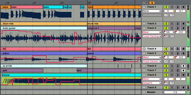 interface del software ableton live