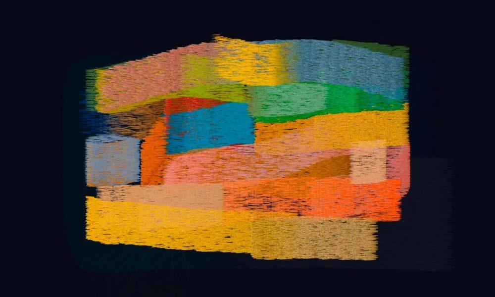 Espiral : una de les obres d'Aurora Gasull, de colors càlids i pinzellades amb textures de pintura