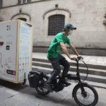vista de la bicicleta que porta l'expo itinerant