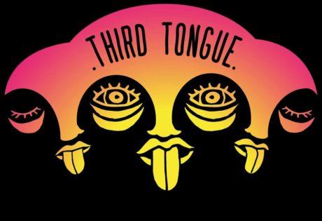 Logotip de thrid tongue : il·lustració amb dos cares i tres llengües