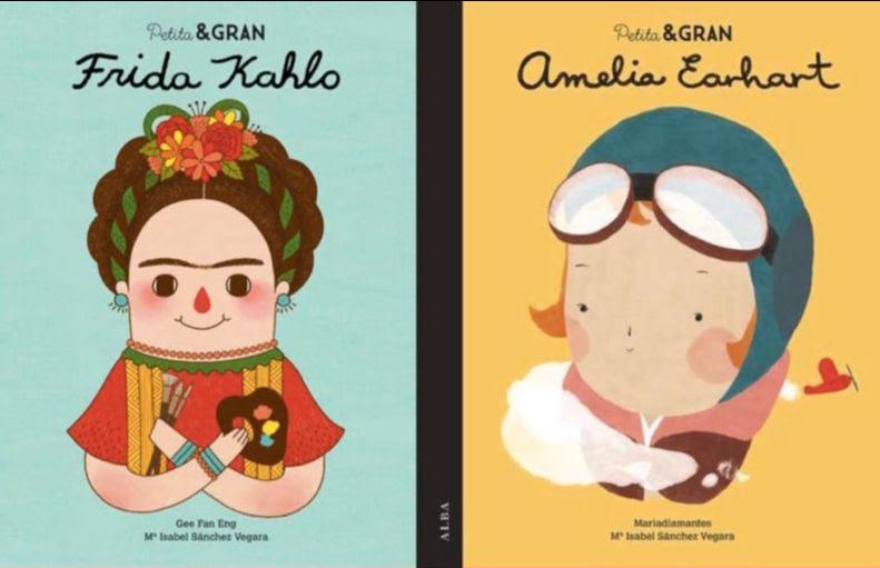 Il·lustracions de Frida Kahlo i Amelia Earhart